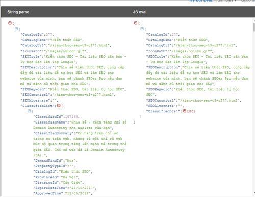 Tiền xử lý: Gen trước dữ liệu đóng gói trong chuỗi JSON