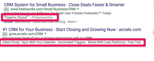 <strong>Tiện ích mở rộng AdWords là gì ?</strong>