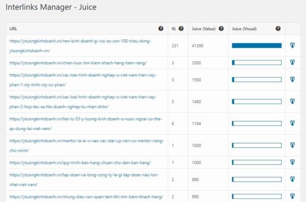 Interlinks Manager Juice - Hướng dẫn sử dụng Interlinks Manager - tạo liên kết nội bộ tự động cho website