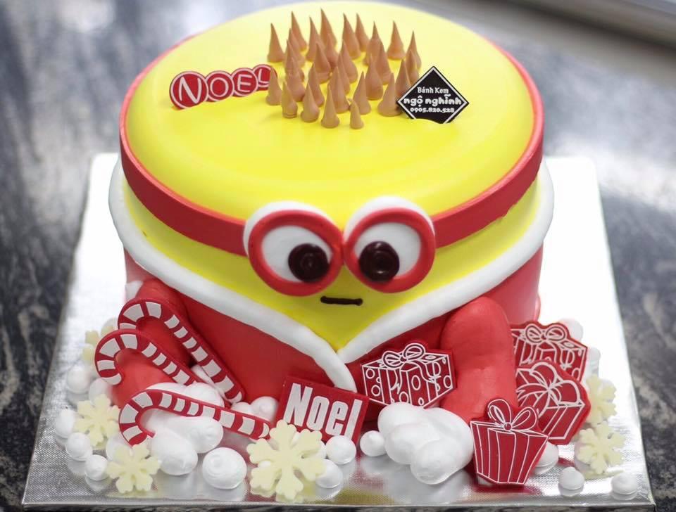 Bánh kem sinh nhật tạo hình 3d minion làm ông già noel đẹp độc lạ ...