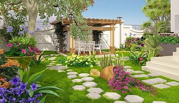 Các điều kiện cần có để thiết kế một sân vườn đẹp | Bất động sản