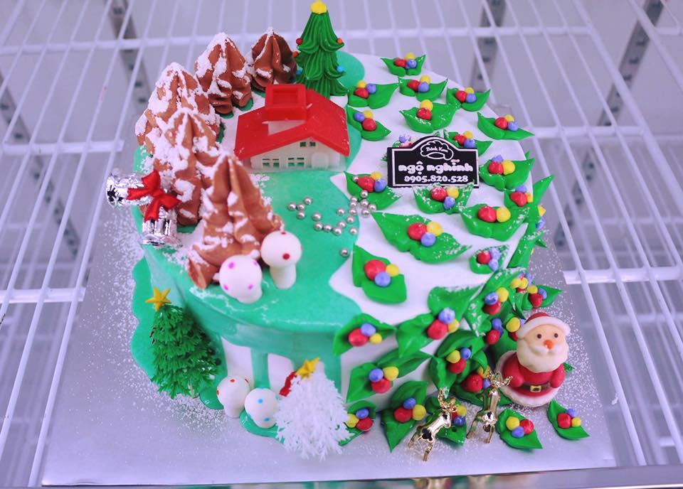 Bánh kem sinh nhật trang trí không khí noel ấm cùng mừng giáng ...