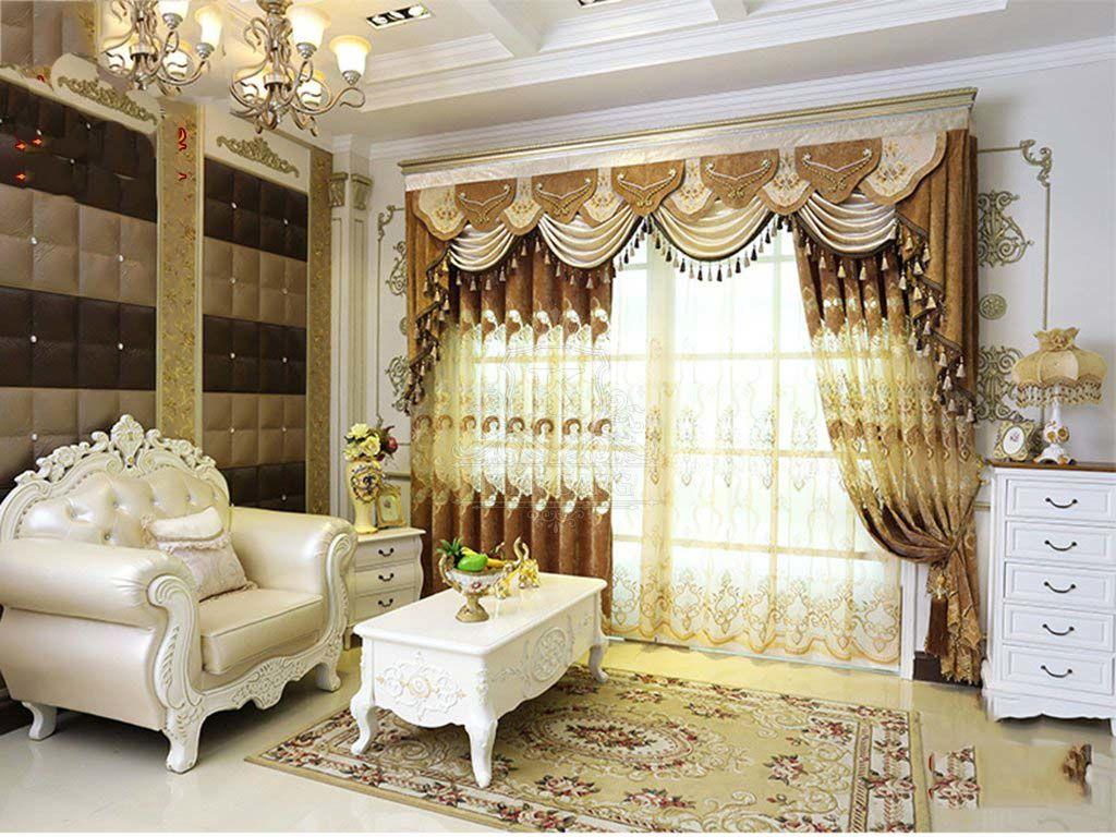Mẫu rèm cửa đẹp sang trọng cho không gian phòng khách