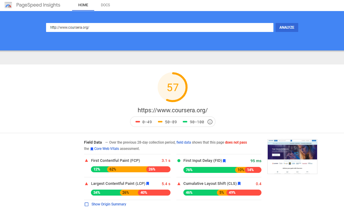 Google PageSpeed Insights : How to Score 100% of the Points - SEOquake