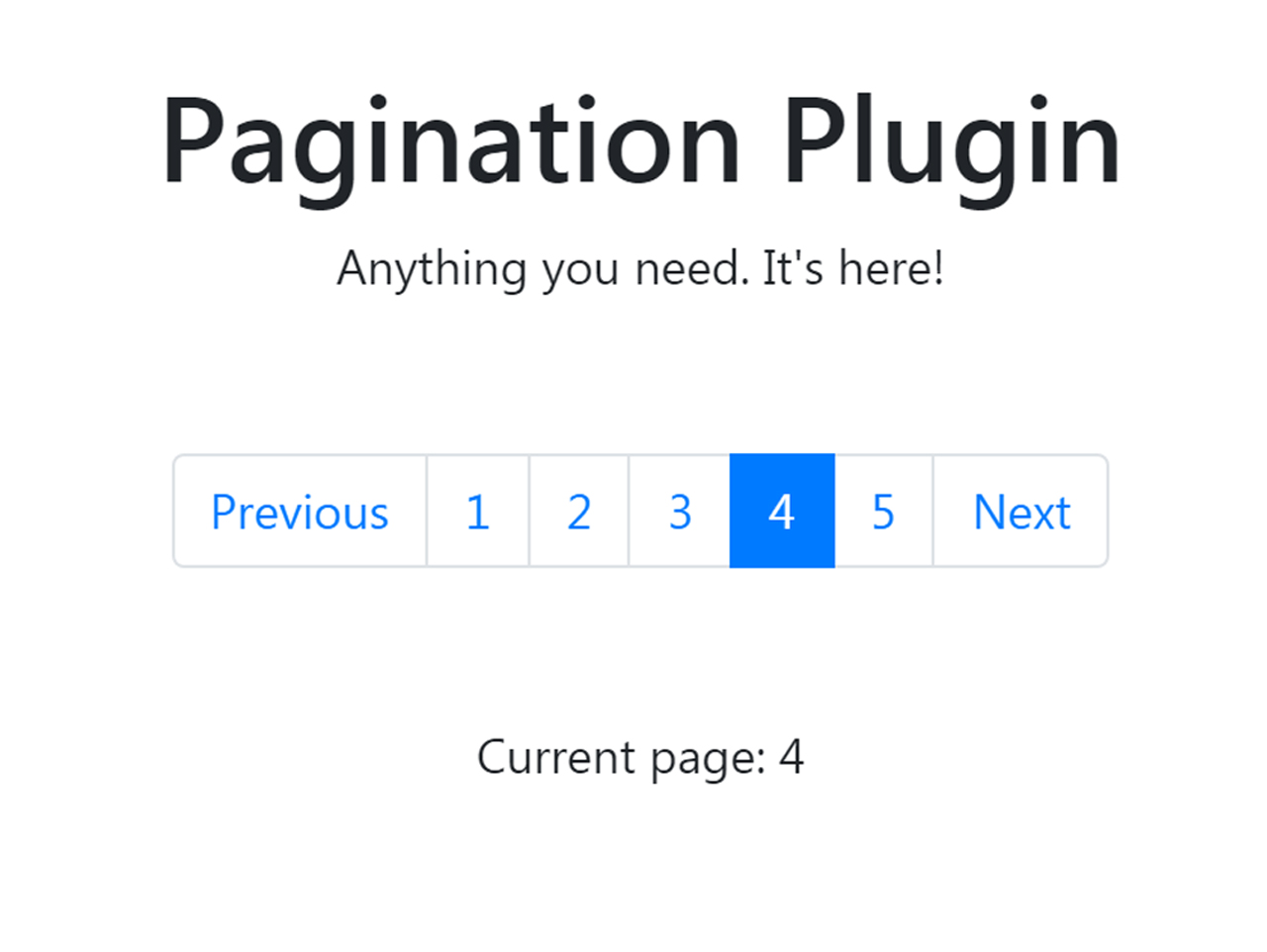 Bootstrap 4 Modern Pagination with jQuery — CodeHim