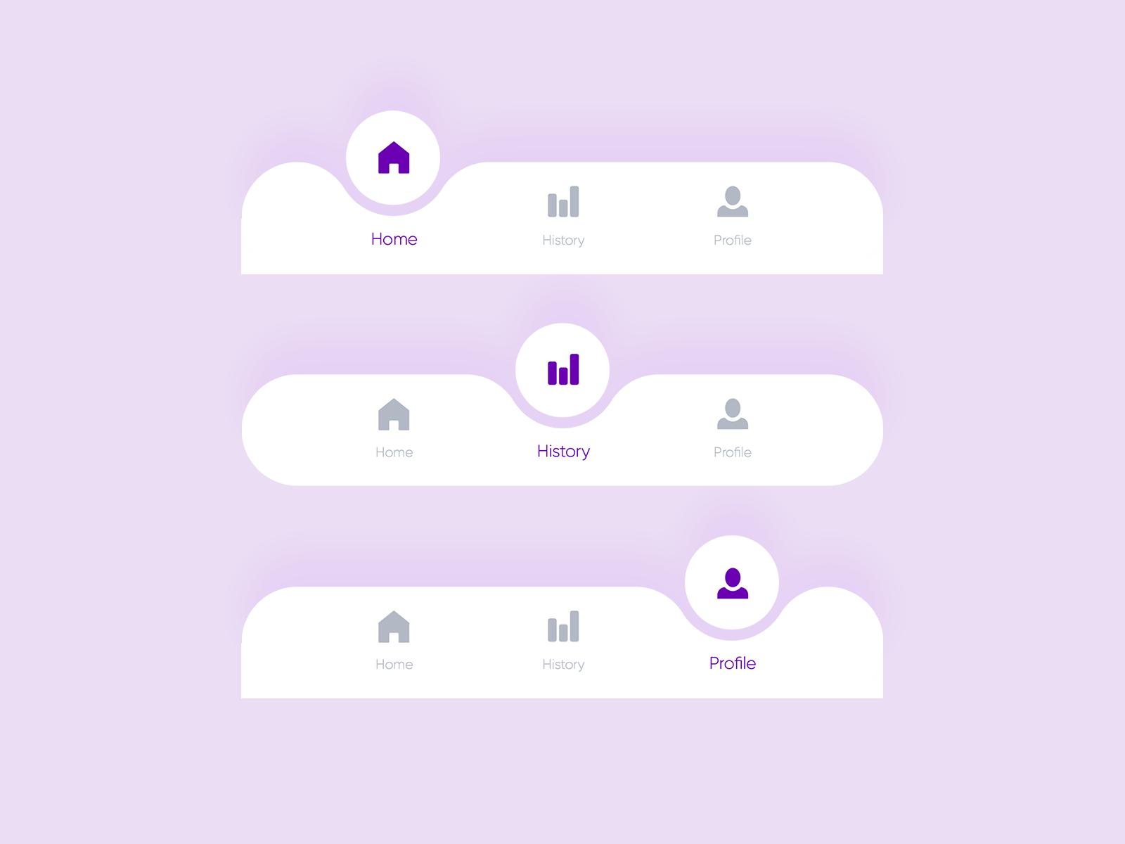 Bottom navigation bar    Free UI Kit   Search by Muzli